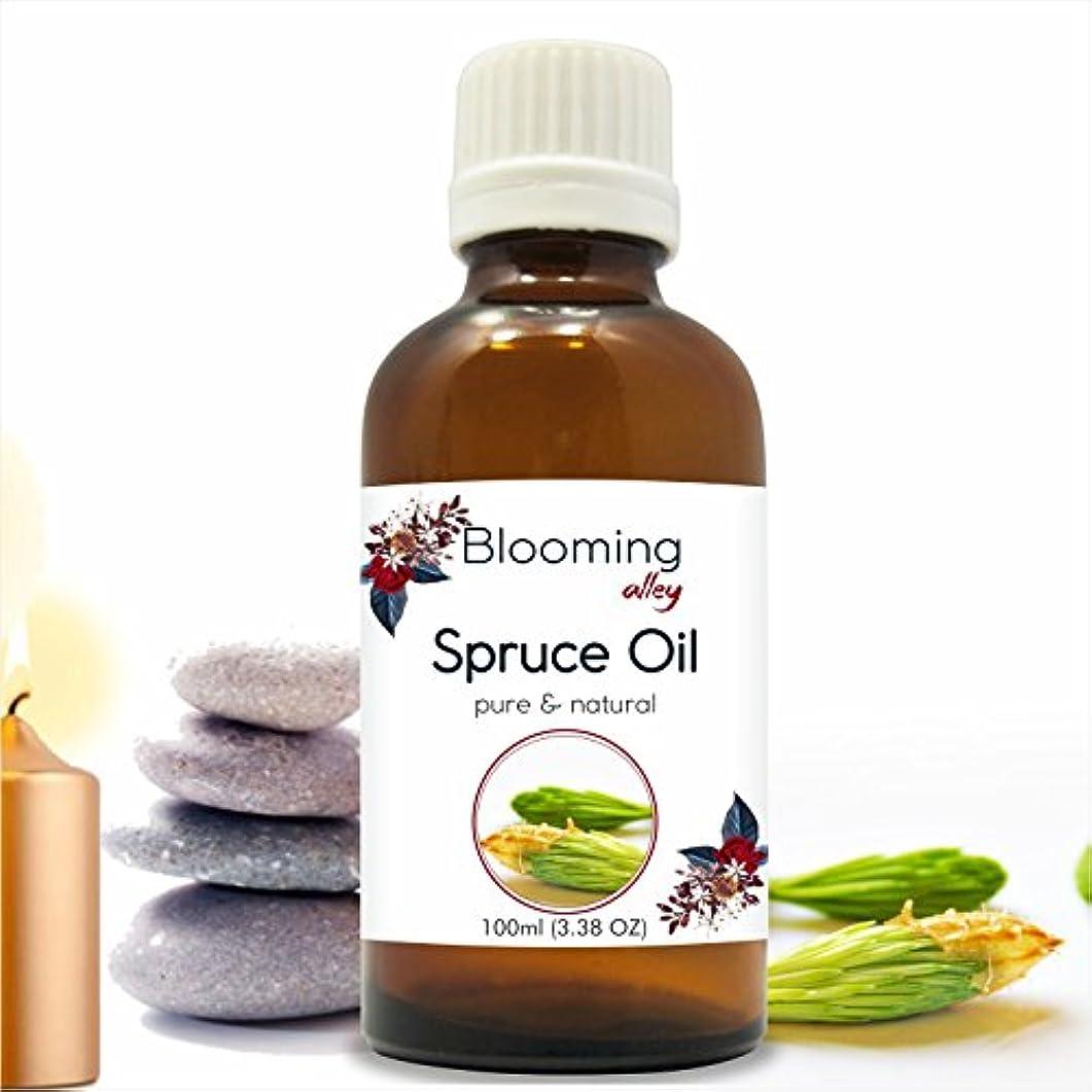 ピザ半円マーカーSpruce Oil(Tsuga Canadensis) Essential Oil 100 ml or 3.38 Fl Oz by Blooming Alley