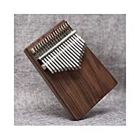 Kalimbaqin、上品な色調の17トーンKalimbaサムピアノ、初心者向けの美しい贈り物に最適、(ギフト、ベルベットバッグ+サムピアノ+スペクトルチューニングハンマー) (Color : Brown)