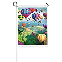 """DFGTLY Fashion Personalized Garden Flag,Colorful Ballons Garden Flag-12""""x18""""/18""""x27"""" Outdoor Decoration"""