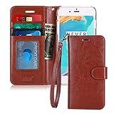 iphone8 plus ケース iphone7 plus ケース,Fyy [RFIDブロッキング] 100%手作り 良質PUレザーケース 横開き 手帳型 二つ折り カードホルダー&ストラップ付き スタンド機能 マグネット開閉 保護カバー iPhone 8 Plus/7 Plus 用 ブラウン