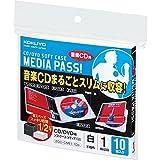 コクヨ CD/DVD用ソフトケース MEDIA PASS 1枚収容 10枚入り 白 EDC-CME1-10W