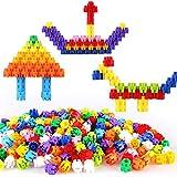 TLMYDD 早期教育綴り挿入DIYの六角形のプラスチック製のビルディングブロック子供の遊び場のパズル啓発のビルディングブロックのおもちゃ 子供のおもちゃ