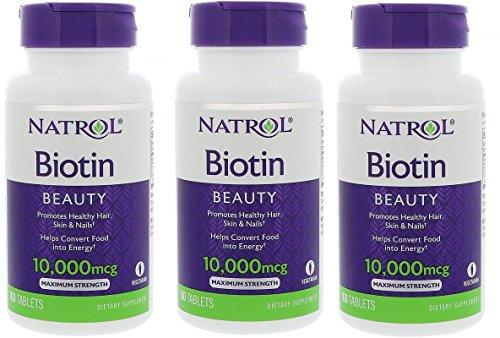 Natrol Biotin Maximum Strength 10,000mcg Tablets 100ea(12items)