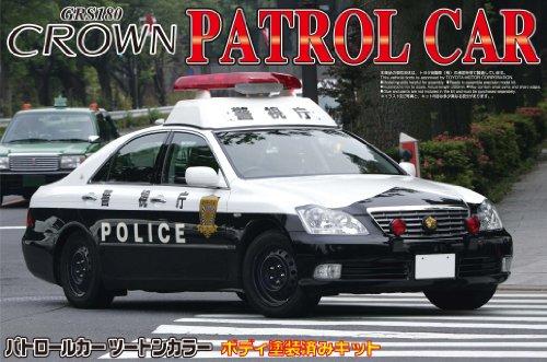 1/24 塗装済パトロールカーシリーズ No. 11 18クラウン パトロールカー 警視庁 スチールホイールVer.