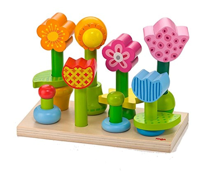 Haba Bonita Garden – 25 Piece木製Mix & Match Stacking Peg Toy