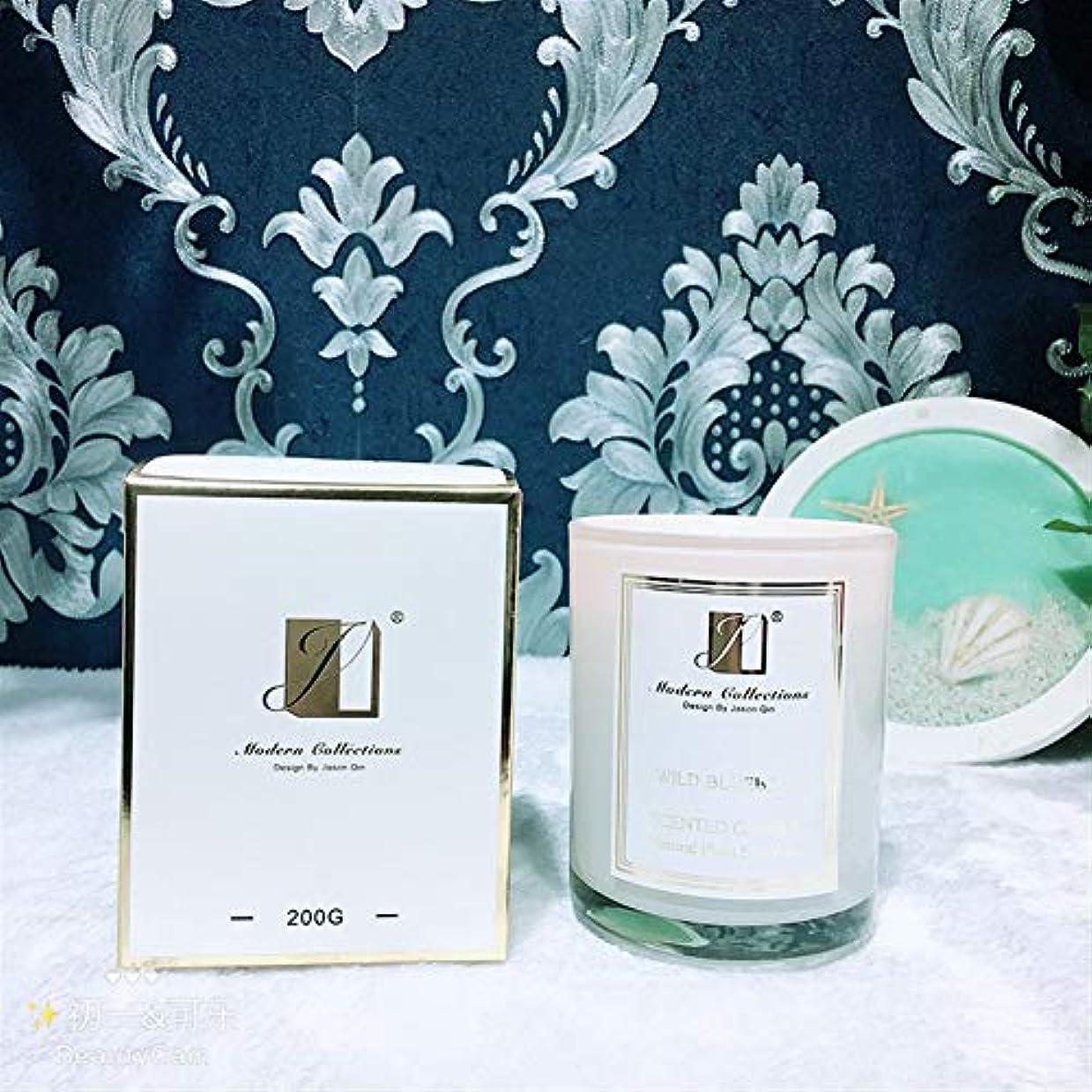 何か批判的寛容Ztian 大豆ワックス無煙香りキャンドルハンドギフトボックス (色 : White tea)