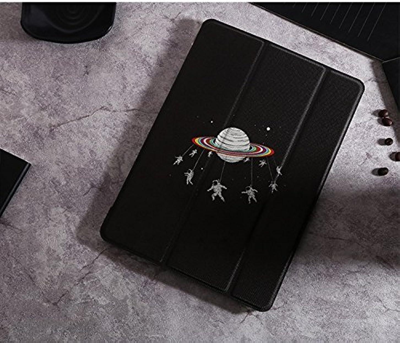 純粋に形式楽しいPink&Brown 人気 iPadケース 超軽量 極薄 宇宙飛行士と犬 レザー 三つ折スタンド オートスリープ iPadmini1 iPadmini2 iPadmini3 iPadmini4 多サイズ対応 スマートカバー プレゼント対応 (iPadmini4, 宇宙飛行士)