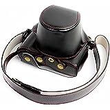 No1accessory XJD-PEN-HH01 ブラック 高品質の Olympus PEN-F 専用 防水 PU レザー 一眼レフ カメラバッグ カメラケース ハンドストラップ 付き