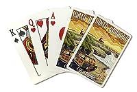 サンタバーバラ、カリフォルニア–Woodyと灯台( Playingカードデッキ–52カードPokerサイズwithジョーカー)