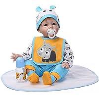 Decdeal 幼児の赤ちゃん シリコーン人形 PP詰め物ボディ 人形ボーイ かわいい 贈り物 おもちゃ