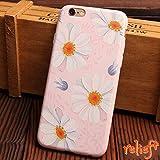 relief iPhone 6 6S 7 ケース 花柄 ラバー ケース オール もこもこ (iPhone7, マーガレット)