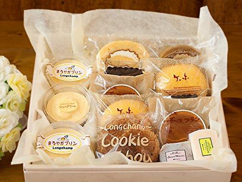 【 敬老の日用 】 プリン シュークリーム ロールケーキ チョコ チーズケーキ 半生 ケーキ いろいろセット (中サイズ 13個入り)