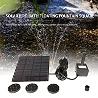 OKAYOU 方法正方形の形の太陽電池パネルの水ポンプのキットの噴水のプールの庭の池の浸水許容の水まきの鳥の浴タンクセット