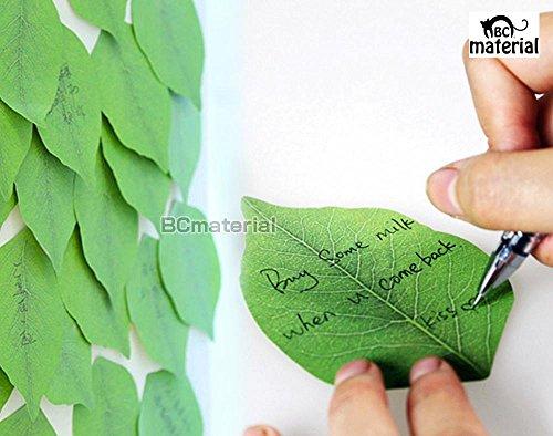 【BC material】リーフ型 メモパッド 葉っぱの 粘着メモ 2冊セット 文具 メモ 葉っぱ 面白