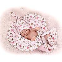 NPK Sleeping 10インチ/ 26 cm PreemieフルボディシリコンソフトビニールReal Looking Rebornベビー人形Lifelike新生児女の子人形