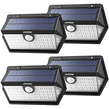 Mpow 40led センサーライト ソーラーライト IP65防水 3つ点灯モード 屋外照明 センサー時間30s 人感ライト 18ヶ月間保証 停電緊急対策 4個 2019年新品