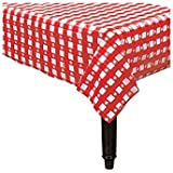 Red Gingham Plastic Tablecover 赤いギンガムプラスチックTablecover?ハロウィン?クリスマス?