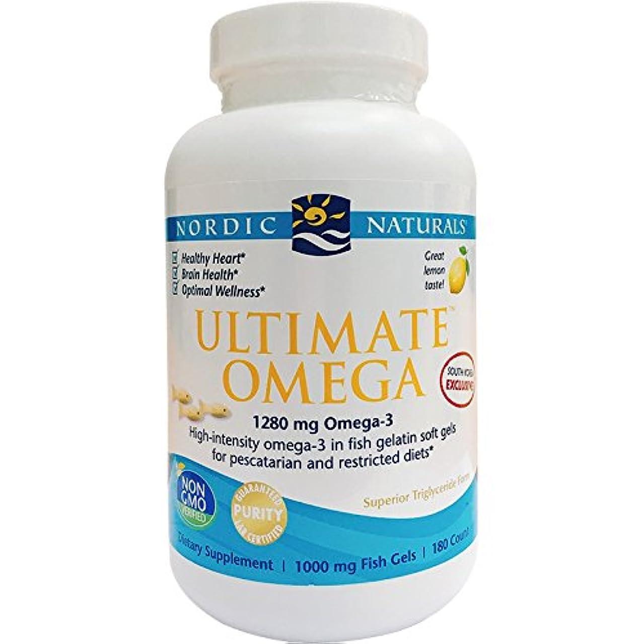 肌憂鬱な崩壊アルティメイトオメガ 1000 mg(レモン) 180 ソフトカプセル (海外直送品)