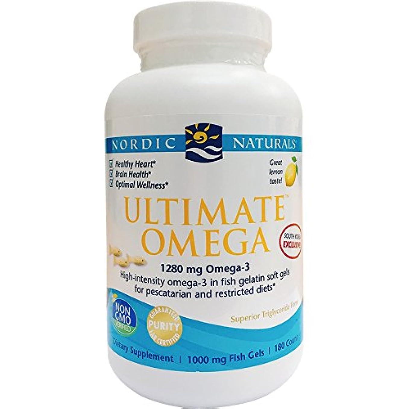 さておき桃ハイブリッドアルティメイトオメガ 1000 mg(レモン) 180 ソフトカプセル (海外直送品)