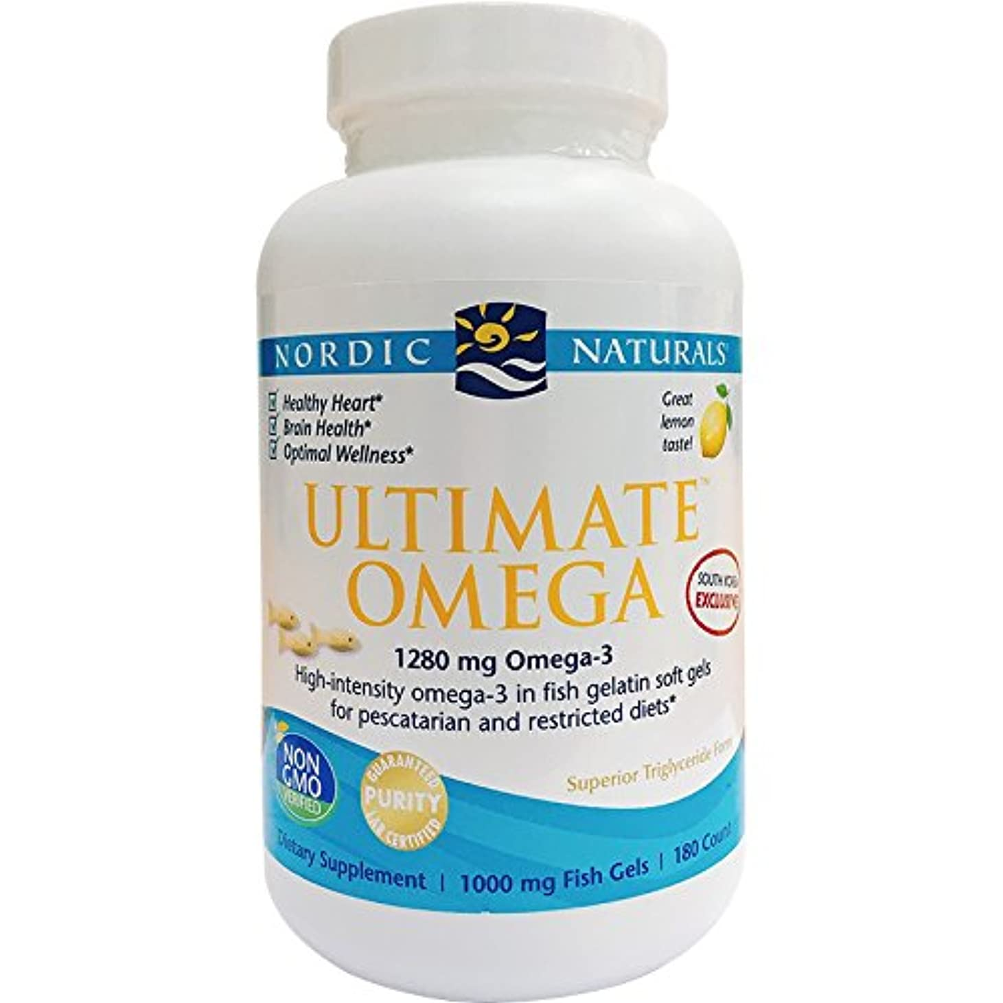達成する倫理的爬虫類アルティメイトオメガ 1000 mg(レモン) 180 ソフトカプセル (海外直送品)