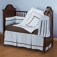 ベビードール寝具ホテルスタイルベビーベッド寝具セット、ブルー