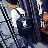 yjydadaファッション猫Neutral学校リュックサックバッグGripesackハンドバッグバックパックブックバッグ ブラック