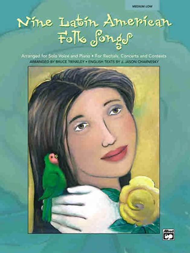 海外で句読点ジェットNine Latin American Folk Songs for Solo Voice and Piano for Medium Low Voice: Medium Low Voice Spanishenglish Language Edition