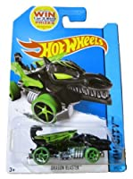 Hot Wheels 2014 Hw City Medieval Rides Black & Green Dragon Blaster 69/250 - Code in Pack