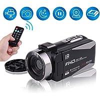 ビデオカメラ 3インチIPSスクリーン 128GBカード対応 HDMI 日本語取説同梱 1080p 30FPS 16倍ズーム ナイトビジョン デジタルカメラ カムコーダー