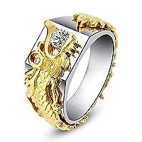Sperrins 男性と女性のドラゴンラインストーンパーソナリティクリエイティブリングファッションドラゴンリングダイヤモンド#10