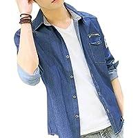 (アルファーフープ) α-HOOP 大きいサイズ も 長袖 メンズファッション アメカジ カジュアル シャツ S ~ XL 3 色 展開 大人 男性 用 a43