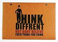 チャールズ・チャップリン 英文 格言 KBE think different but don't believe everything you think ポスター B3 サイズ SE04