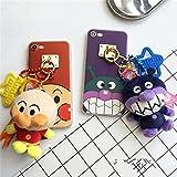 アンパンマン バイキンマンiPhoneケース iPhoneカバー アイフォンケース iPhone6/6plus/7/7plusケース ぬいぐるみ付き リング付き おもしろ かわいい (iPhone7, アンパンマン)