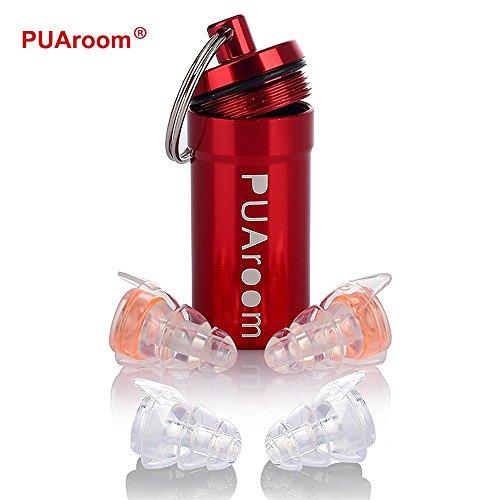 PUAroom 2ペア騒音フィルター付き高忠実度耳栓安全性を維持して芸術家、コンサート、オートバイ、旅行、祝日、ライブイベントの聴覚を保護する音量を低減騒音の低減再利用可能な低アレルギー性および環境に優しい