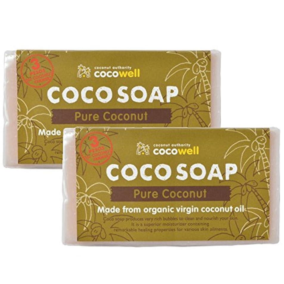 日焼け剃る好色なココウェル ココソープ ピュアココナッツ 95g×2個セット
