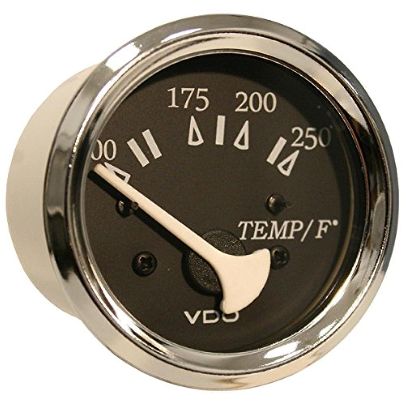 振る舞いジャンクションバーチャルVDO allentare 250 degreesF水温度ゲージ – 使用W / Marine 450 – 29 Ohm送信者 – 12 V – クロムベゼル
