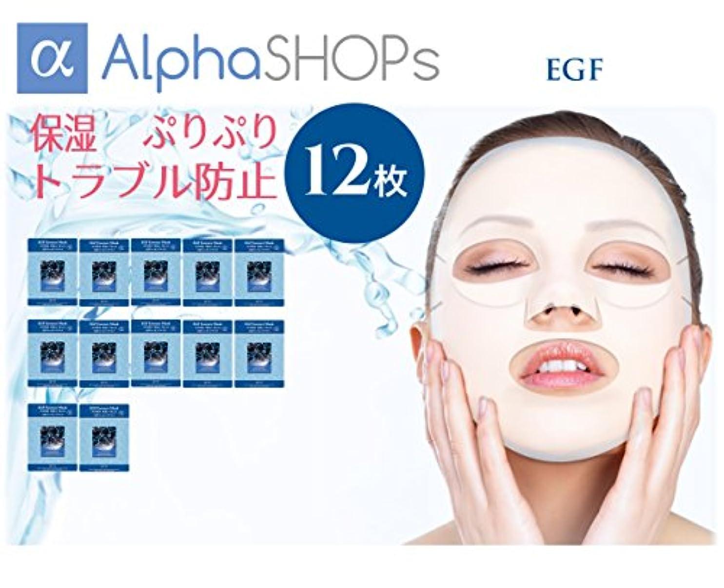セール令状知覚する12枚セット EGF エッセンスマスク 韓国コスメ MIJIN(ミジン)
