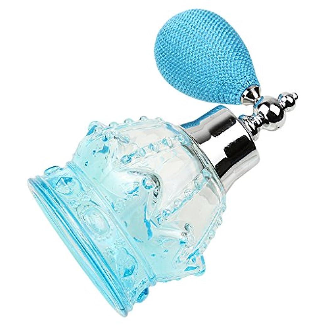 飾る夜文明3色選べる 100ml 空 ガラス瓶 香水瓶 噴霧器 魅力的 ボトル 詰め替え スプレーバルブ アトマイザー - 青
