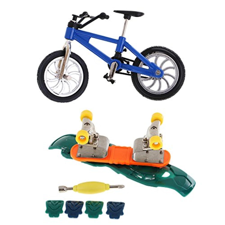 Lovoski  人気 指スケ フィンガースケートボード フィンガーバイク 自転車 ミニチュア おもちゃ 4色可選 - #1