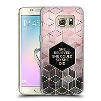 オフィシャルElisabeth Fredriksson Believe 2 タイポグラフィ Samsung Galaxy S7 edge 専用ソフトジェルケース
