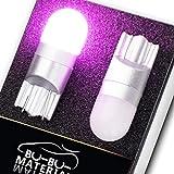 ぶーぶーマテリアル T10 LED 優しく明るい光拡散 ポジションランプ T16 ピンク 無極性 2個