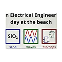 "CafePress – An Electrical Engineer 's Day at theビーチRectangl – 長方形マグネット、2 "" x3 ""冷蔵庫マグネット"