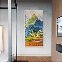風景山林キャンバス絵画抽象装飾ポスタープリントウォールアート写真リビングルームホーム通路の装飾120×60センチメートルいいえフレーム