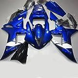 【PGMARO】バイク パーツ カウル YAMAHA 外装パーツセット 外装セット For Yamaha YZF R1 2002 2003 ブルー