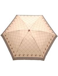 Juvia Pluie[ジュビア] 傘 レディース 婦人用折りたたみ雨傘 バイアス フラワー プリント オフ白