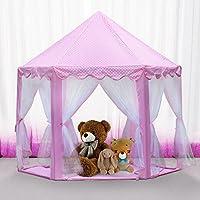 プリンセス城Kids Play Tent /子Playhouseガールズ用、ピンク
