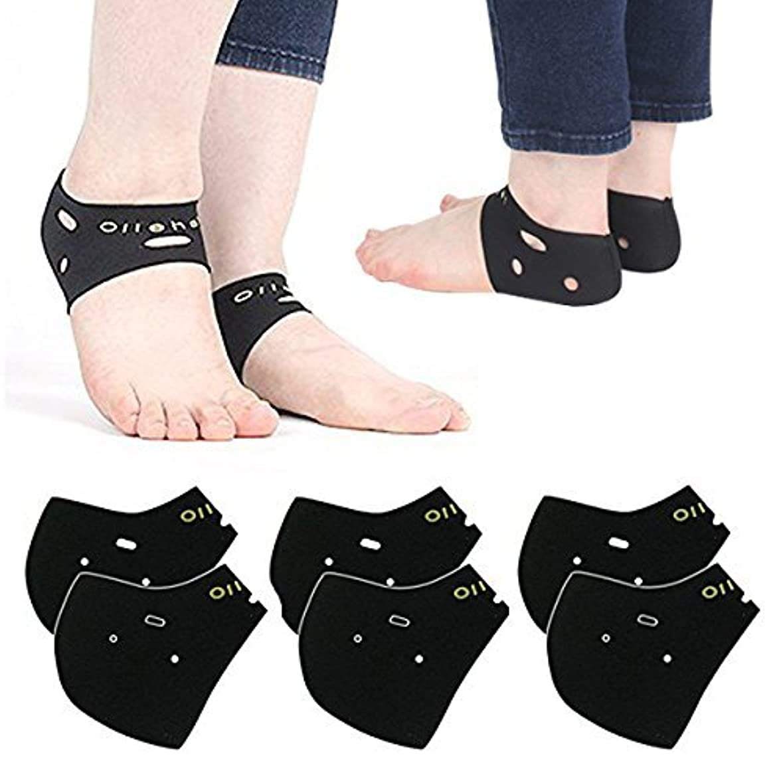 主流クロールダニかかとケア 靴下 3足 1セット ソックス かかとサポーター 角質ケア 保温 保湿 防寒靴下 発熱ソックス 冷え取り 両足 フリーサイズ かかと ケア