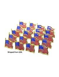 ローレン?アナベルStudio American Flagピン50の星とストライプラペルピン米国USAタイタックラペルピンバッジピン米国から出荷