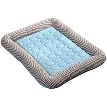 (Enerhu)ペット用ベッド クールマット 犬猫用 ペットマット 夏用 柔らかい ひんやり 冷感 メッシュ 暑さ対策 熱中症防止 犬 猫用 寝床 ぐっすり眠れる 耐噛み 洗える おしゃれ (M, #1)