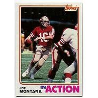 1982トップスジョー?モンタナアクションカードで# 489 San Francisco 49ers Notre Dame